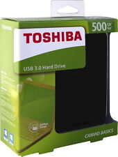 """DISCO DURO EXTERNO 500GB TOSHIBA CANVIO BASICS 2,5"""" USB 3.0 y 2.0 - Top Ventas"""