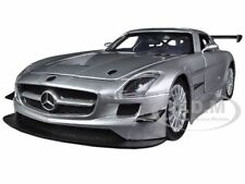 MERCEDES SLS AMG GT3 SILVER 1/24 DIECAST MODEL CAR BY MOTORMAX 73356