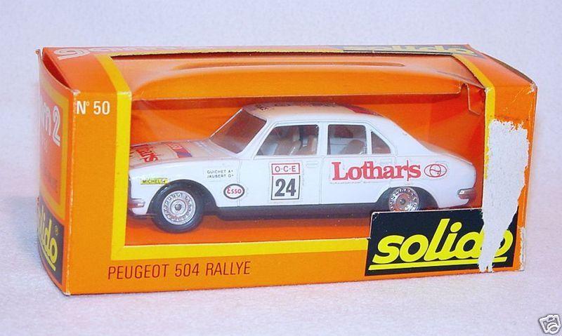 Solido GAM 2 1 43 PEUGEOT 504 LOTHARS Rallye Car MIB`75