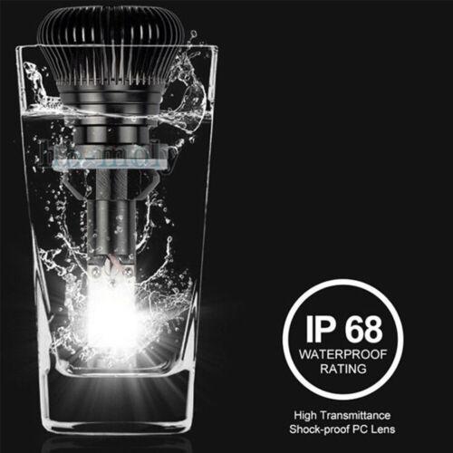 2x LED COB H7 Flash Strobe Blinking Car Fog Light DRL Dual Color Waterproof 12V