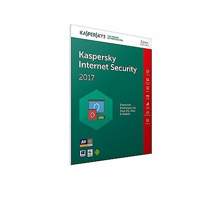 KASPERSKY INTERNET SECURITY 2017 1 USER LICENCE ONLY FOR 1 YEAR