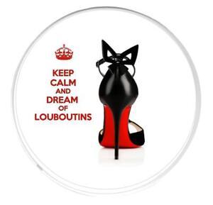 Keep Calm Y Sueño De Louboutins Redondo Posavasos, icónico zapato negro y suela roja