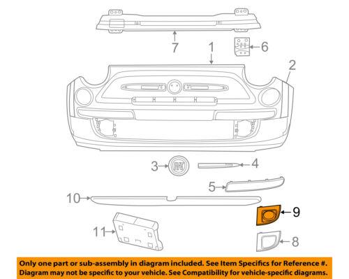FIAT OEM 12-17 500 Front Bumper Grille-Bezel Left 1SD77KX7AB