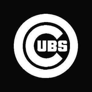Chicago Cubs Logo Car Decal Vinyl Sticker White 3 Sizes Ebay