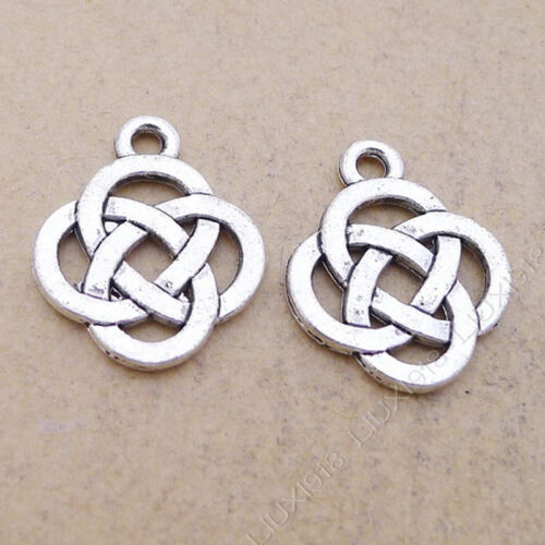 40pc Tibetan Silver Chinese knot Pendant Bracelet Necklace Charms Findings P595