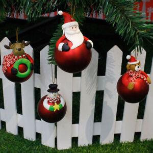 Detalles De Decoración árbol De Navidad Fiesta Papá Noel Reno Muñeco De Nieve Bola De Color