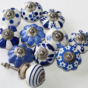 Moebelknopf-Moebelgriff-Moebelknoepfe-Keramik-Moebelknaeufe-Schubladengriff-Blau-Weiss