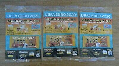 Panini Adrenalyn XL UEFA Euro EM 2020 2 x premium gold Booster 4x Limited Editio