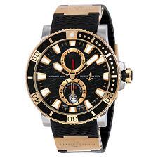 Ulysse Nardin Maxi Marine Diver Black Dial 18K Rose Gold Mens Watch 265-90-3-92
