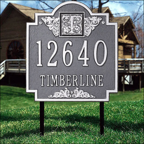 Whitehall Monogram Address Marker Personalized Plaque 17 Color Choices No Rust Ebay