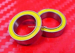 QTY 2 S6700-2RS 10x15x4 mm CERAMIC 440c Stainless Steel Ball Bearing 6700RS