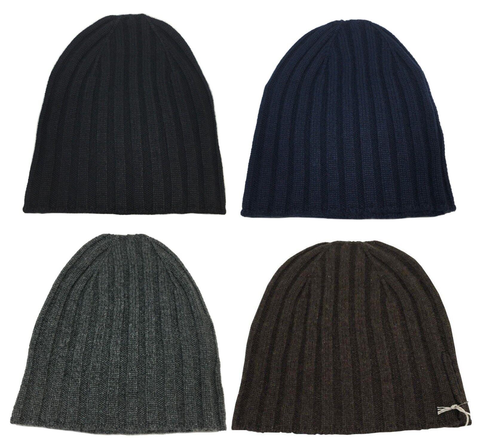 DELLA CIANA cappello uomo a coste 100/% cashmere 2//28 art 07922 MADE IN ITALY