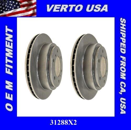 Verto USA Set Of 2 Disc Brake Rotors-Rear for 2000-2006 Mitsubishi Montero