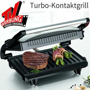 GOURMETmaxx Elektro Turbo Grill Kompakt Panini Grill Kontaktgrill 700 W. NEU/OVP