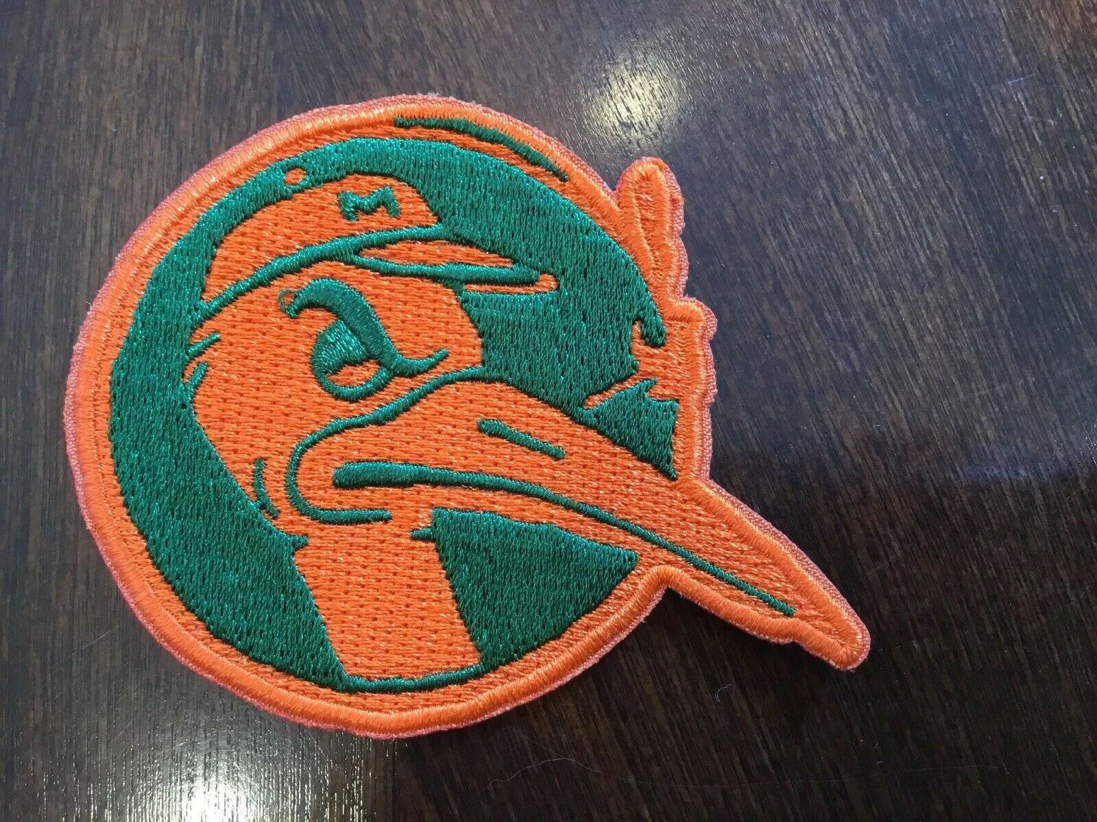 """University of Miami hurricanes Vintage Embroidered Iron On Patch 3.25"""" X 2.5"""""""