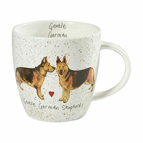 Gentle German Shepherds Dog Full Range Alex Clark Fine China Squash Mug