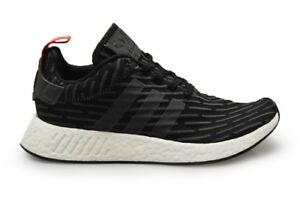 43fea478d4c8 Image is loading Mens-NMD-R2-BY2499-Black-Red-White-Trainers