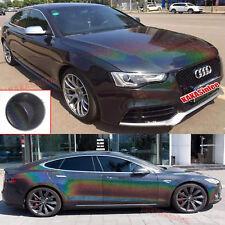 TeckWrap Glossy Black Holographic Rainbow Chrome Car Vinyl