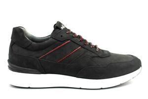 Scarpe da uomo nero giardini A901282U pelle casual sportive da passeggio basse