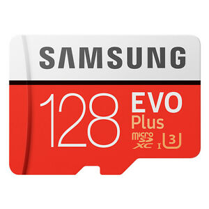 Samsung EVO+ 128GB microSDXC Card 2017 100MB/s + Adapter NEU