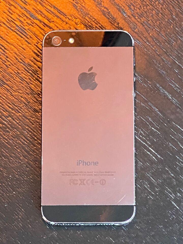 iPhone 5, 64 GB, sort