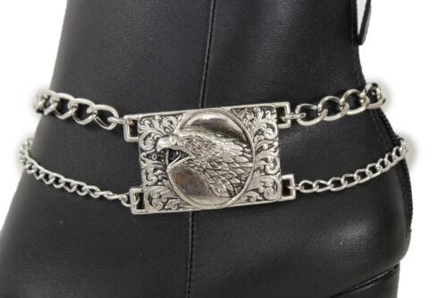 Women Western Boot Bracelet Silver Metal Chain Anklet Shoe American Eagle Charm