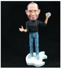 Great man Steve Jobs Apple Founder Statue Figure (iphone In hand) free shipping