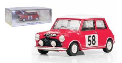 Spark S1189 MORRIS Mini Cooper   58 MONTE CARLO RALLY 1963-P Mayman scala 1/43