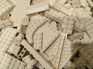 100-piece-LEGO-lot-of-White-bricks-plates-and-pieces-job-lot
