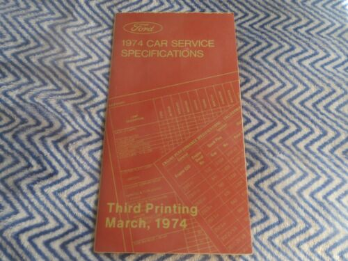 NOS 1974 FORD MUSTANG TORINO MAVERICK LTD THUNDERBIRD SERVICE SPEC SHOP MANUAL