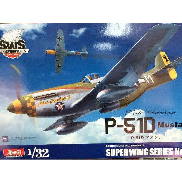 SWS 1 32 Very Details Kit Volks Zoukei-Mura  North American P-51D Mustang