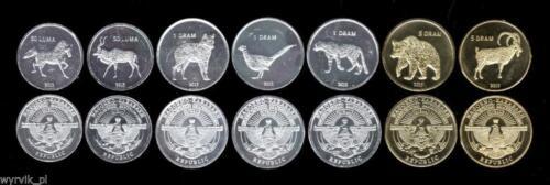 NAGORNO KARABAKH 2013 set of 7 coins Upper Karabach Gorny #S11