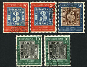 GERMANY Deutsche Post #667 #668 #B309 Bavaria Stamp Postage Collection 1949 USED