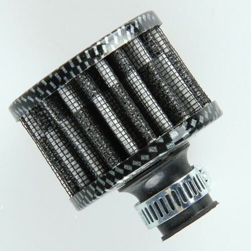 Carbon Fiber Look Mini Air Breather Filter Valve Cover Air Intake Vent 12mm Car