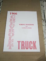 1966 Chevrolet Truck Wiring Diagram Booklet