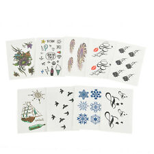 10pcs Mix  Temporary Tattoo Inspired Body Makeup Stickers Removable Waterproof