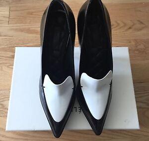 Celine Black \u0026 White Leather Platform