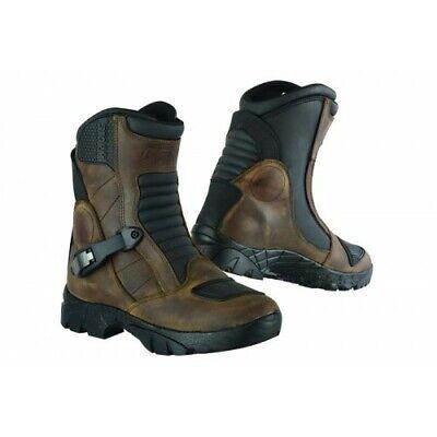 Motorcycle Adventure Shoes Genuine top Grain Leather Waterproof Motorbike BootS