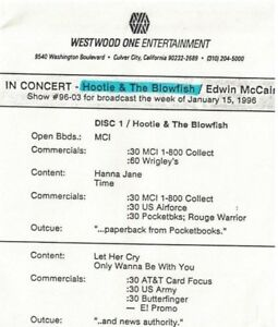 Hootie-amp-The-Blowfish-In-Concert-USA-1996-4-Track-Live-Radio-Only-CD-Show-96-03
