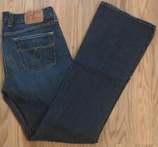 "LUCKY BRAND sz 8/29 ""LOLA BOOTLEG"" ZIPPER FLY BLUE JEANS measures 31"" x 33"""