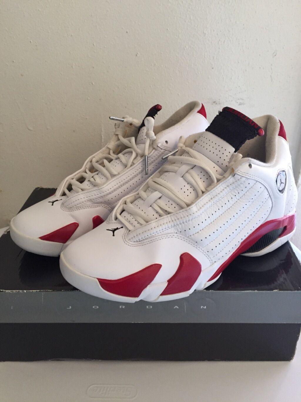 Men's Air Jordan retro 14s ''Candy Cane  white red size 9.5