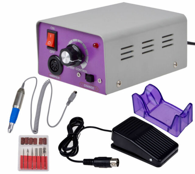 Professional Electric Nail File Acrylic Manicure Drill Sand Machine Kit 110V