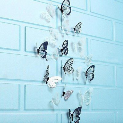 Single Layer Party Supplies 3D Decals Wall Art PVC Mural Butterly Wall Sticker