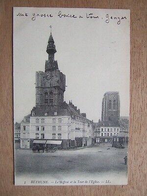 La Tour de l/'Eglise Saint-Vaast BETHUNE CPA 62