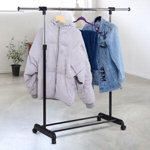Portant-a-vetement-Porte-manteau-sur-roulettes-reglable-en-largeur-et-en-hauteur