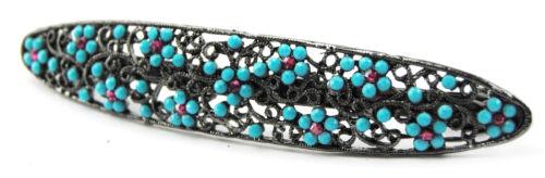 NUOVO-Vintage Capelli Clip-Fermagli Serie-metallo antico-Fiore-Headwear