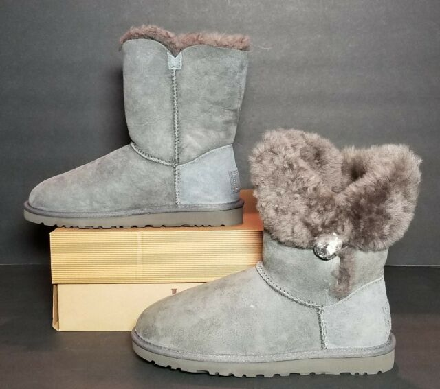 1c94f60b3f8 UGG Australia Womens Bailey Button Bling BOOTS 3349 Grey 6