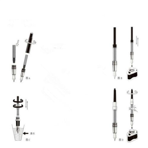 Estilografica Pluma JINHAO X450 Marmol con Convertidor y Estuche Plumin M 4516az