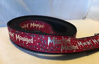 Harry Potter Mischief Managed Inspired Ribbon 4/' Leash