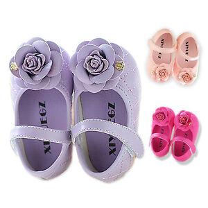 bautizo rosa para 9 en fucsia Bebé 6 Zapatitos Nuevo rosa Niña lila 4t8wqI